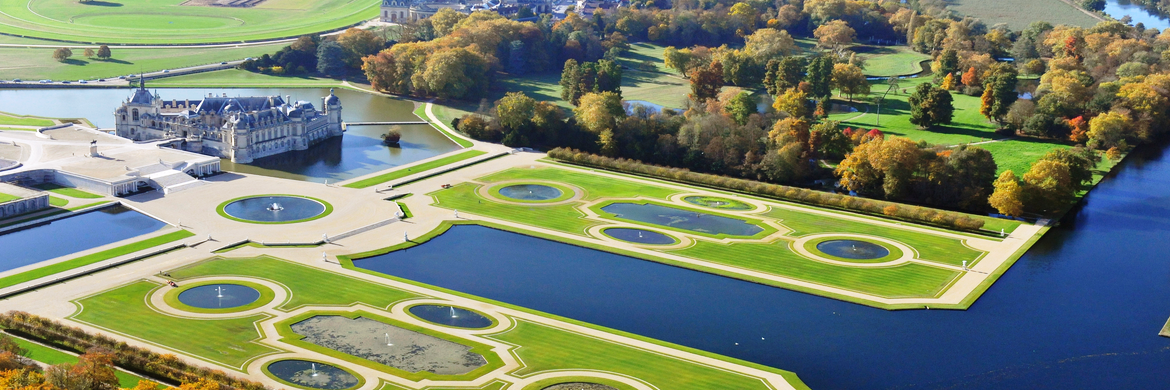 Chantilly-Castle aerial view